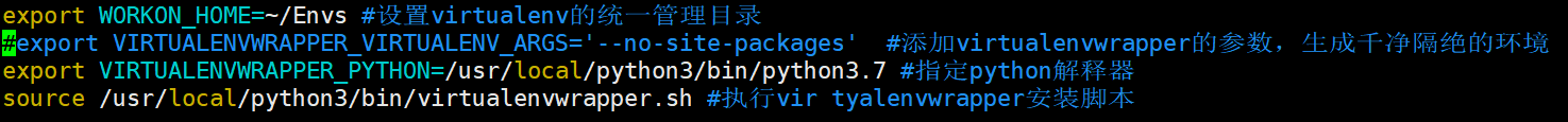 记一次部署virtuanenvwrapper环境错误,提示virtualenv: error: unrecognized arguments: --no-site-packages